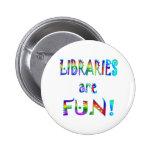 Las bibliotecas son diversión pin