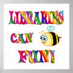 Las bibliotecas son diversión poster