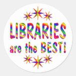 Las bibliotecas son el mejor etiquetas redondas
