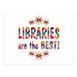 Las bibliotecas son el mejor tarjetas postales