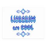 Las bibliotecas son frescas postal