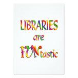 Las bibliotecas son Funtastic Invitaciones Personalizada