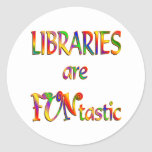 Las bibliotecas son Funtastic Pegatina Redonda