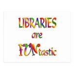 Las bibliotecas son Funtastic Tarjetas Postales