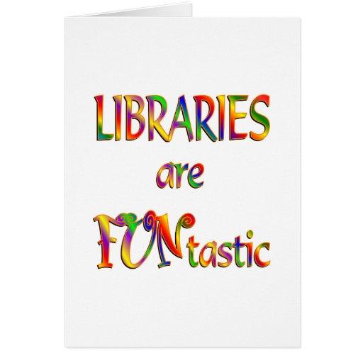 Las bibliotecas son Funtastic Tarjetón