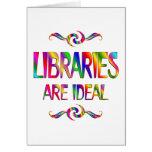 Las bibliotecas son ideales felicitacion