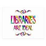 Las bibliotecas son ideales postal