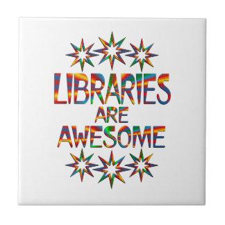 Las bibliotecas son impresionantes azulejo cuadrado pequeño