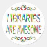 Las bibliotecas son impresionantes etiqueta