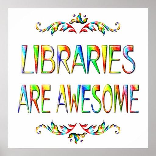 Las bibliotecas son impresionantes impresiones