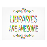 Las bibliotecas son impresionantes comunicado personalizado