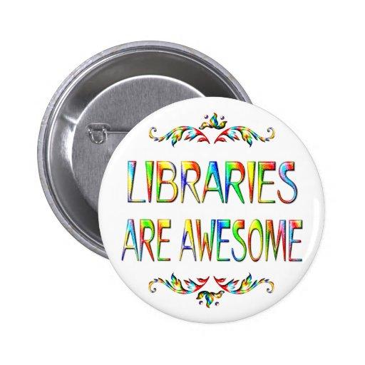 Las bibliotecas son impresionantes pin redondo de 2 pulgadas