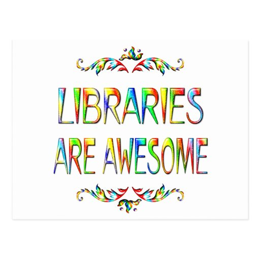 Las bibliotecas son impresionantes postal
