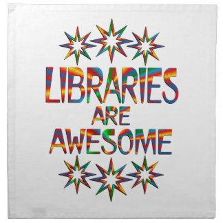 Las bibliotecas son impresionantes servilleta
