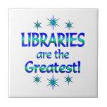Las bibliotecas son las más grandes azulejos cerámicos