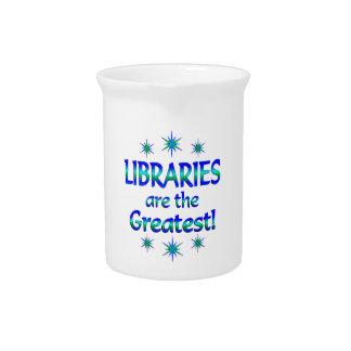 Las bibliotecas son las más grandes jarras de beber