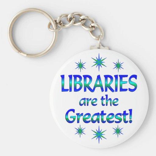 Las bibliotecas son las más grandes llaveros personalizados