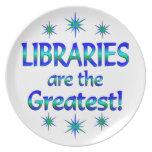 Las bibliotecas son las más grandes plato