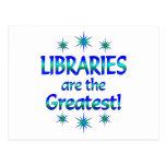 Las bibliotecas son las más grandes postal