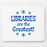 Las bibliotecas son las más grandes tapetes de ratones