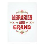 Las bibliotecas son magníficas invitación