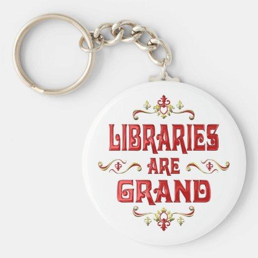 Las bibliotecas son magníficas llaveros