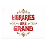 Las bibliotecas son magníficas postales