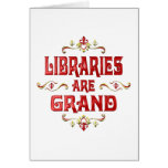 Las bibliotecas son magníficas tarjetas