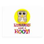 Las bibliotecas son un pitido tarjeta postal