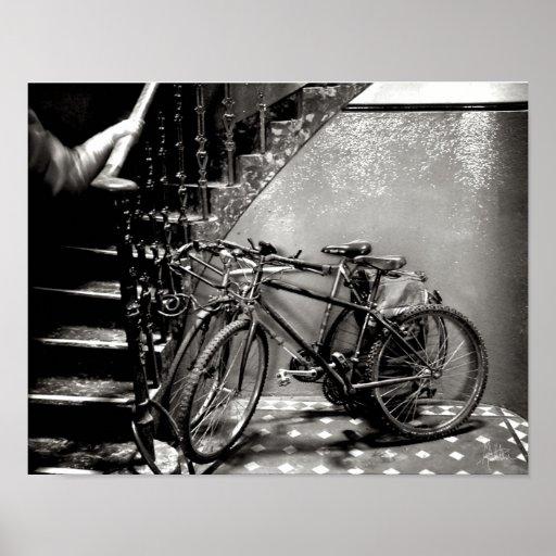 Las bicicletas [impresión del arte] póster