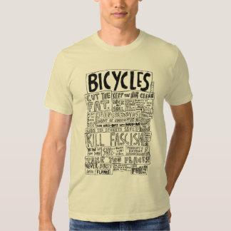 Las bicicletas nunca estallan en las llamas polera