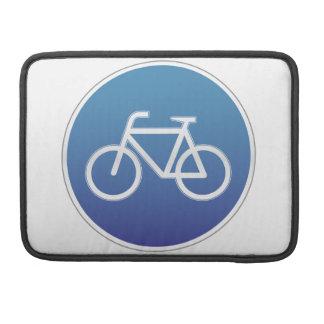 Las bicicletas permitieron la señal de tráfico fundas macbook pro