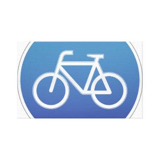Las bicicletas permitieron la señal de tráfico impresiones en lienzo estiradas