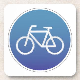 Las bicicletas permitieron la señal de tráfico posavasos de bebidas