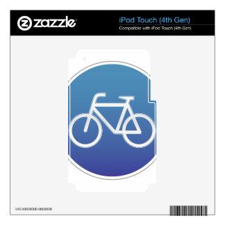 Las bicicletas permitieron la señal de tráfico skins para iPod touch 4G