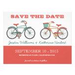 Las bicicletas retras lindas del vintage ahorran l invitaciones personalizada