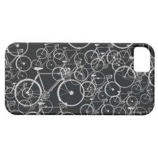 las bicis modelan en blanco y negro iPhone 5 Case-Mate coberturas