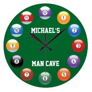 Las bolas de billar personalizaron el reloj de par
