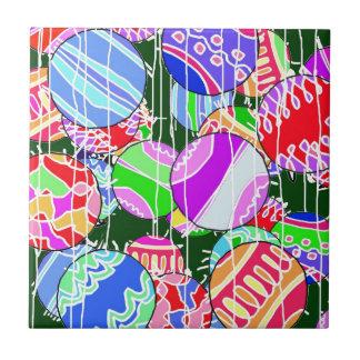 Las bolas del navidad azulejos ceramicos
