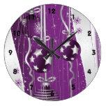 Las bolas púrpuras, grises del navidad protagoniza reloj