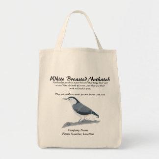 Las bolsas de asas blancas del pájaro Info del