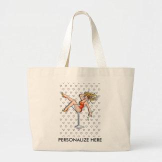 Las bolsas de asas - chica en un vidrio de Martini