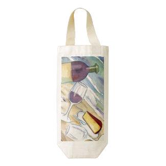 Las bolsas de asas de encargo de la botella del bolsa para botella de vino zazzle HEART