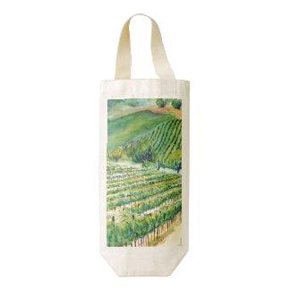 Las bolsas de asas de encargo del arte del vino bolsa para botella de vino zazzle HEART