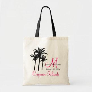 Las bolsas de asas de encargo del boda de playa de