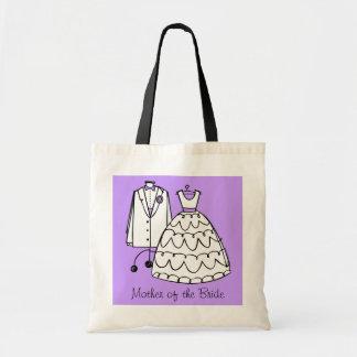 Las bolsas de asas de encargo del vestido de boda
