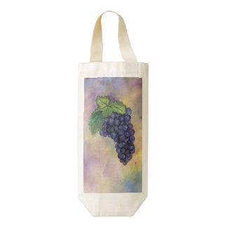 Las bolsas de asas de encargo del vino de las uvas bolsa para botella de vino zazzle HEART