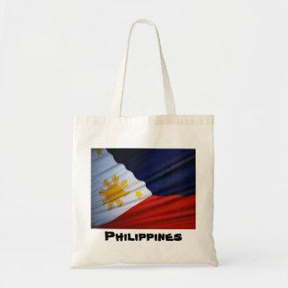 las bolsas de asas de la bandera de Filipinas