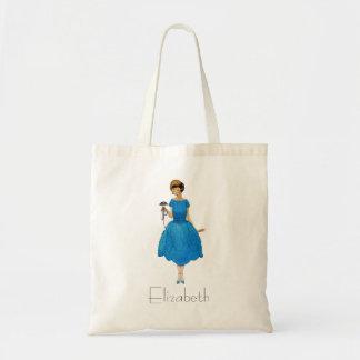 Las bolsas de asas de la dama de honor, azul bonit
