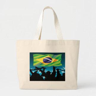 Las bolsas de asas del fútbol del Brasil